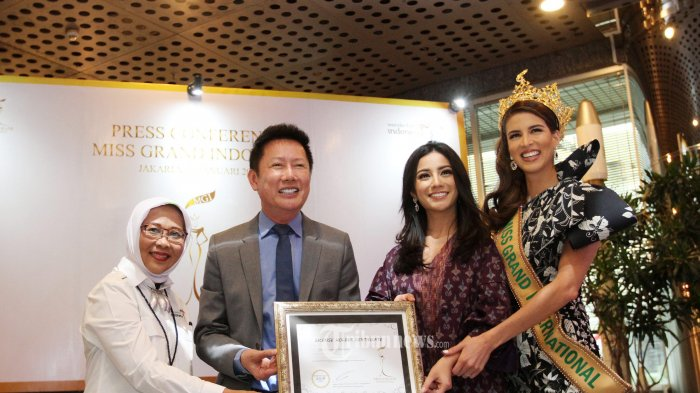MOU Miss Grand International Organization dengan Yayasan Dharma Gantari Indonesia.