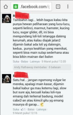 Screenshot percakapan anggota grup Official Candy's Group