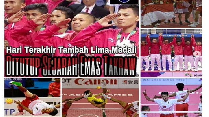 Sejarah medali emas pertama sepak takraw Indonesia di Asian Games tercetak Sabtu 1 September 2018. Saiful Rijal jadi man of the match.