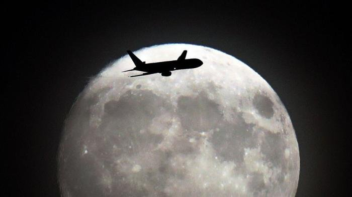 Supermoon Heathrow London