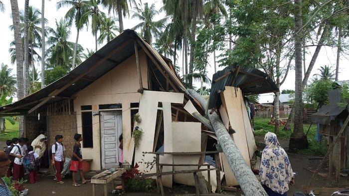 Rumah Tertimpa Pohon Kelapa di Lhokseumawe, Tukang Bangunan Bersama Keluarganya Mengungsi