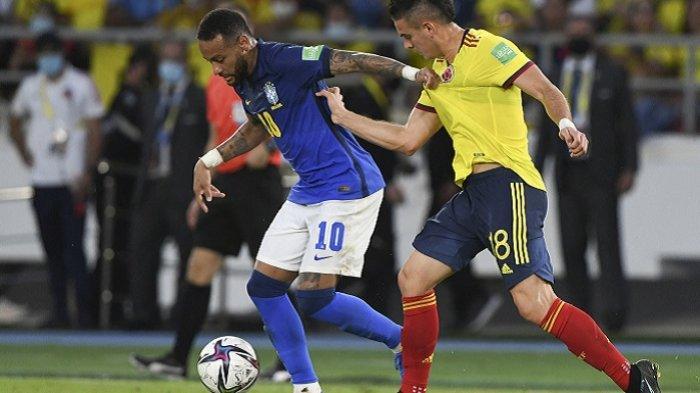 Neymar Gagal Beri Inspirasi Brasil Melawan Kolombia, Ditahan Tuan Rumah 0-0