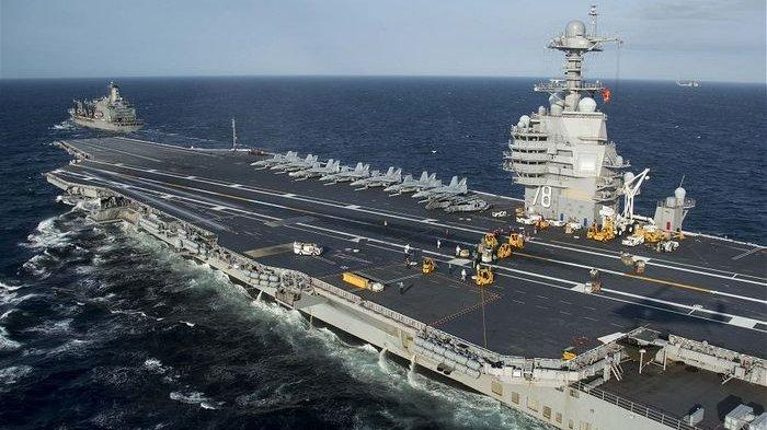 Kapal Induk Shandong China Unjuk Gigi di Laut China Selatan, Protes Kapal Perang AS