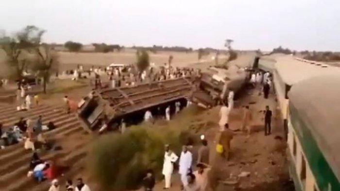 Dua Kereta Tabrakan di Pakistan, 32 Orang Tewas dan Ratusan Luka-luka