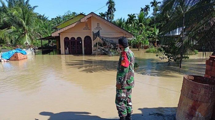 Banjir Landa 4 Gampong di Nagan Raya, Akses Jalan Warga Berlebaran Terganggu