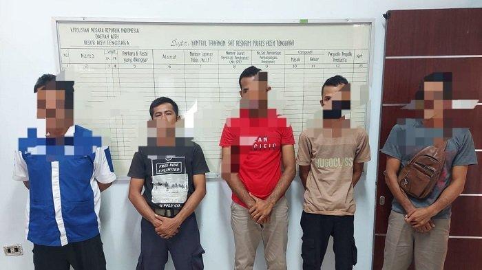 Polres Aceh Tenggara Tangkap 8 Pria Tersangka Judi Online, Penjual dan Pembeli Chip Higgs Domino
