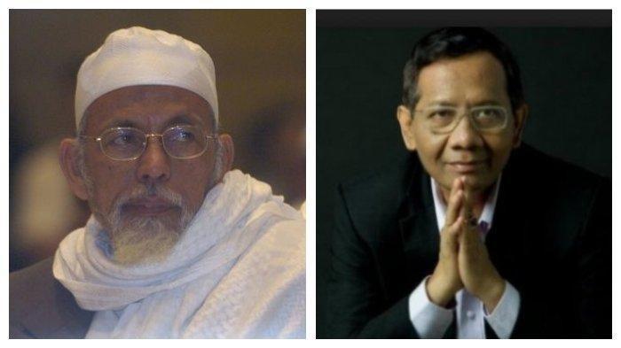 Mahfud MD Tanggapi soal Pembebasan Abu Bakar Baasyir: Tidak Mungkin Dikeluarkan dengan Bebas Murni
