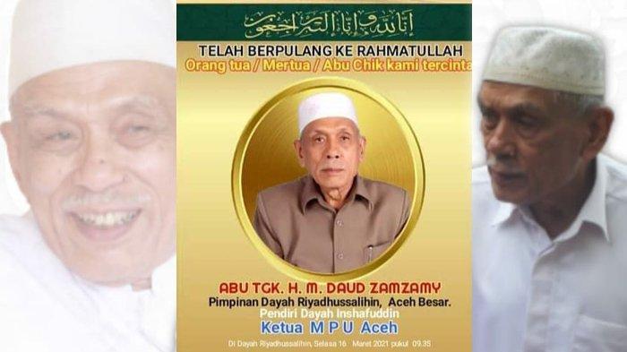 Ulama Kharismatik Aceh, Abu Daud Zamzami Meninggal Dunia, Sosok Bijak serta Mengedepankan Ukhuwah