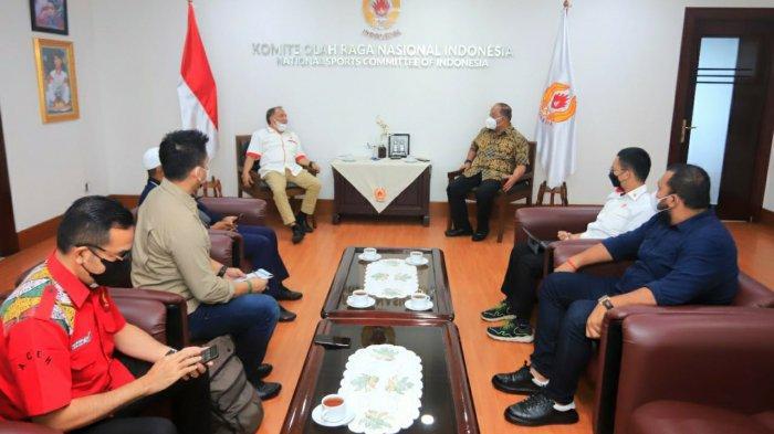 Lapor Persiapan Tuan Rumah PON 2024, Abu Razak Temui Ketua Umum KONI Pusat