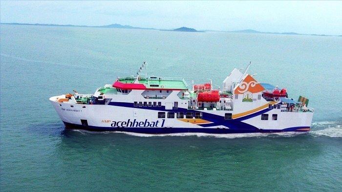 Pagi ini, KMP Aceh Hebat 1 Berlabuh di Pelabuhan Ulee Lheue, Kapal untuk Rute Simeulue