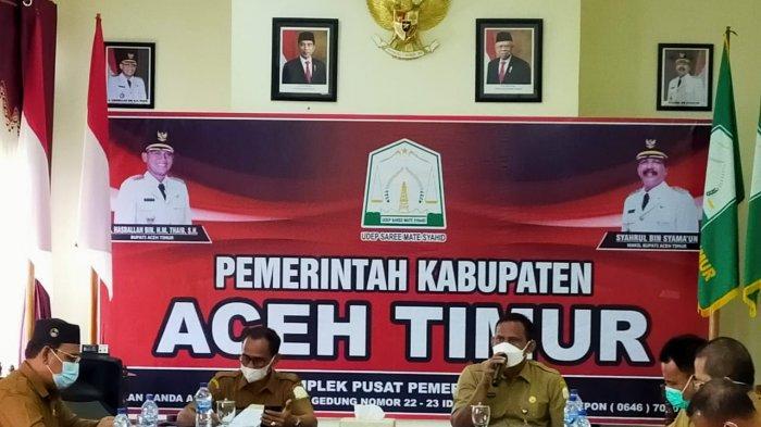 Kasus Covid-19 di Aceh Timur Meningkat, OPD Diminta Kerja Ekstra Sosialisasi Protkes