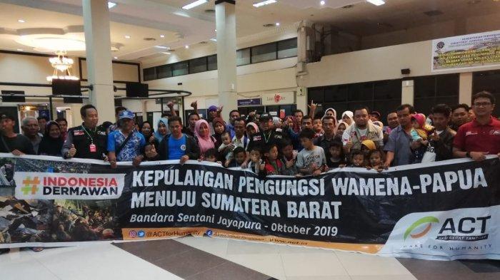 ACT Fasilitasi Kepulangan Pengungsi Wamena ke Sumatera Barat
