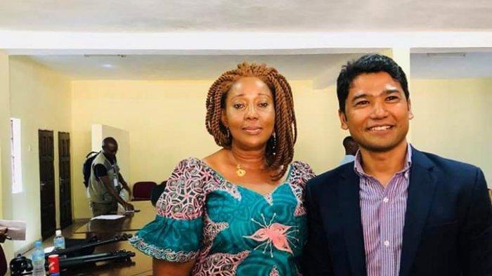 Bersama Menteri Sosial dan Pemberdayaan Perempuan Sierra Leone.
