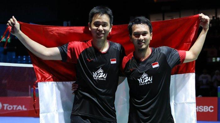 Hasil BWF World Tour Finals 2019 - Kalahkan Wakil Malaysia, Hendra/Ahsan Perpanjang Rekor Kemenangan