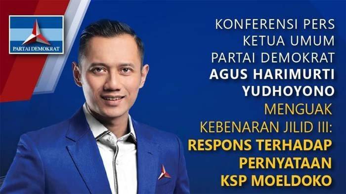 AHY Respons Pernyataan KSP Moeldoko sampai Trending Twitter #LawanBegalPolitik