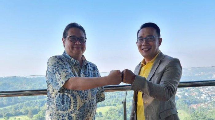 Airlangga Hartarto Bertemu Ridwan Kamil, Ini Doa Kang Emil Untuk Ketua Umum Golkar