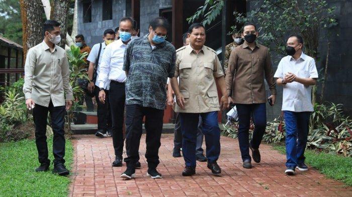 Airlangga dan Prabowo Bertemu di Hambalang, Bahas Isu Strategis dan Dukung Kebijakan Presiden Jokowi