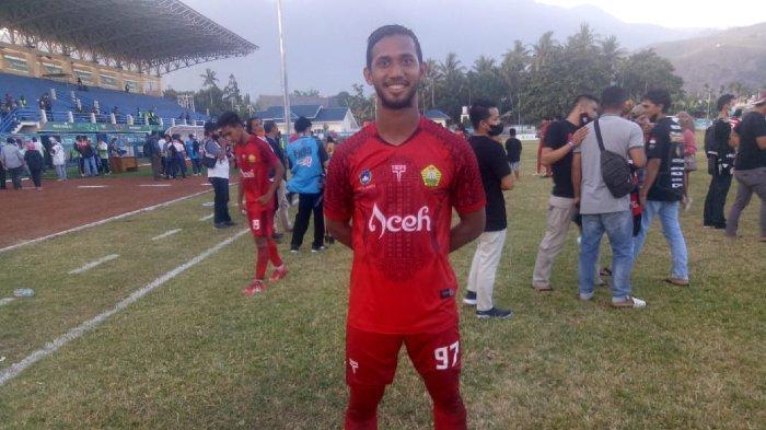 Laga Final Sepakbola PON, Pencetak Gol Tim Sepakbola Aceh Akhirul Wahdah Janji Pentingkan Tim
