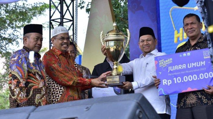 Aceh Timur Juara Umum, Aceh Tamiang Kontingen Favorit pada Peringatan HAI Ke-54