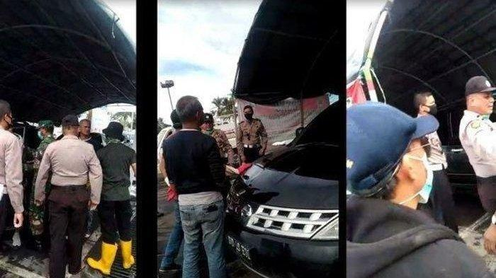 Tolak Disemprot Disinfektan, Anggota DPRD Ajak Duel Petugas Tim Covid-19, Aparat Sampai Turun Tangan