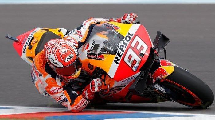 Hasil FP1 MotoGP Aragon 2021 - Marc Marquez Tercepat, Valentino Rossi Tercecer Posisi Ke-20