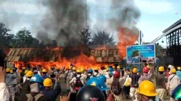 Peringatan May Day Ricuh, Buruh Lakukan Pembakaran, Kantor Dirusak dan Dijarah