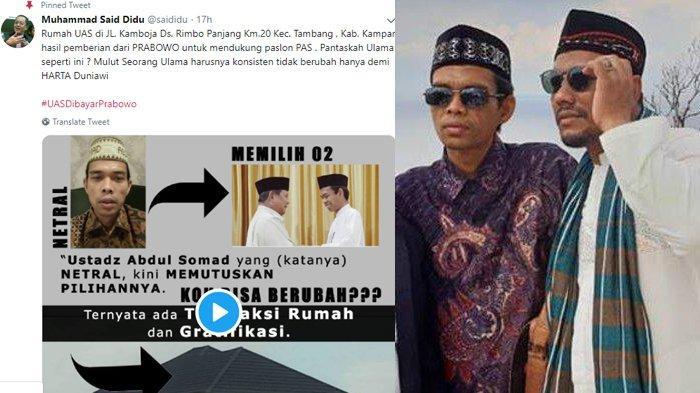 Ustadz Abdul Somad Difitnah Terima Rumah dari Prabowo, Sahabatnya di Aceh Ungkap Sosok UAS