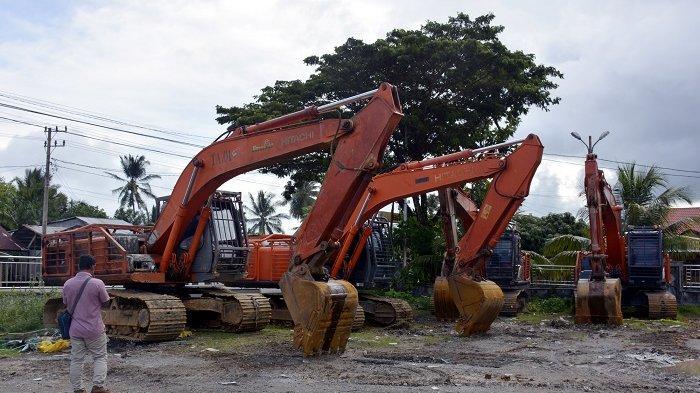 Polda Aceh Limpahkah Kasus Tambang Emas Ilegal ke Jaksa, Bersama 7 Beko dan 5 Orang Tersangka