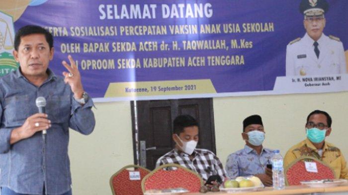 Kadisdik Ultimatum Kepsek Agar Siswa Divaksin, Ini Total Remaja yang Sudah Divaksin di Aceh