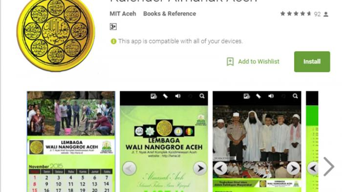 Aplikasi Android Almanak Aceh Direspons Positif