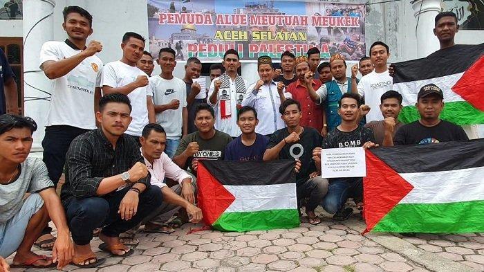 Pemuda Alue Meutuah Galang Dana untuk Palestina