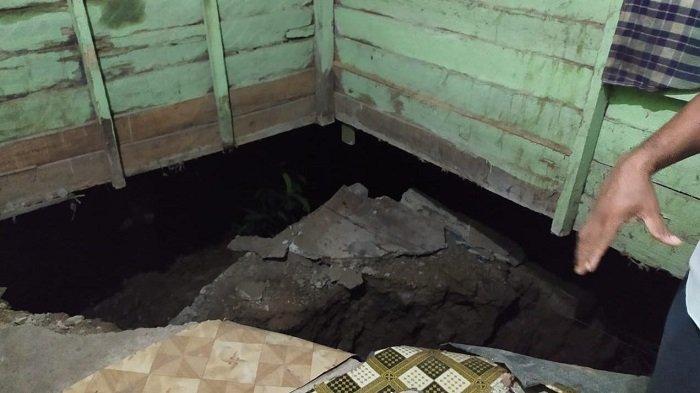 Lantai Rumah Warga di Aceh Utara Amblas, Begini Kondisinya