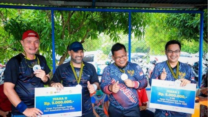 Bekap Kurniawan/Zulkarnaen, Aminullah/Tio Lana Raih Juara Turnamen Tenis U-95