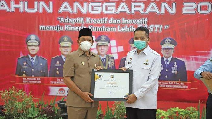 Aceh Besar Terima Dua Penghargaan Bergengsi dari Kemenkumham