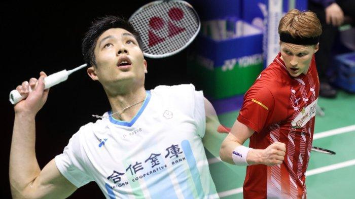 DENMARK OPEN 2020 – Makin Panas, Anders Antonsen vs Chou Tien Chen di Semifinal, Berikut Jadwalnya