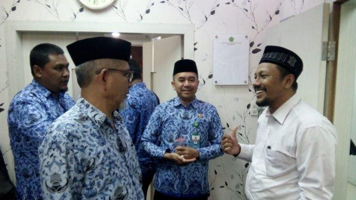 Kunjungi Kemenag Aceh, Senator Aceh Fadhil Rahmi Bahas Sejumlah Persoalan