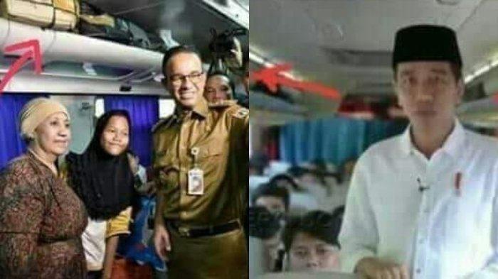 Lihat Perbedaan Foto Saat Jokowi dan Anies Masuk Bus Pemudik, Ada yang tak Yakin Asli
