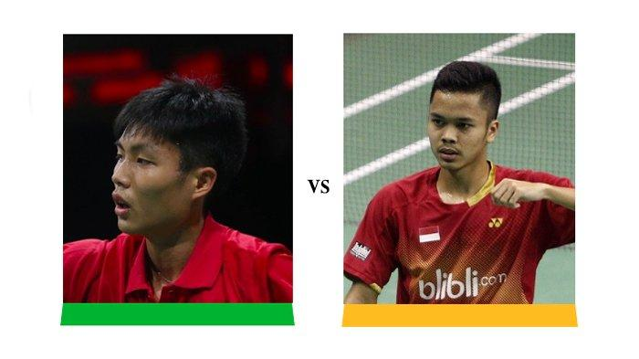 Link Live Streaming BWF World Tour Finals 2018 - Anthony Ginting Vs Chou Tien Chen Pukul 21.10 WIB