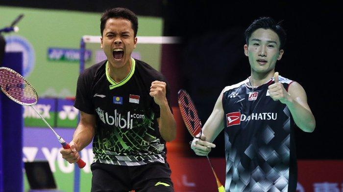 Hasil Drawing Thailand Open 2021 - Ginting Berpeluang Lawan Momota, Marcus/Kevin Jumpa Wakil Prancis