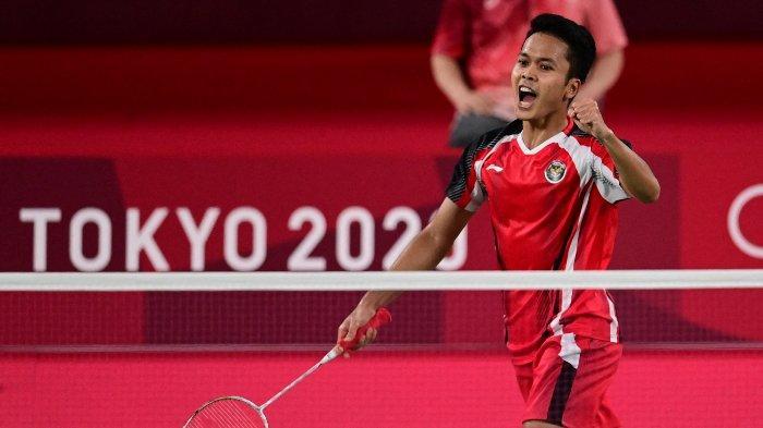 Live Streaming Indosiar & TVRI Perebutan Perunggu Olimpiade 2020 Anthony Ginting vs Kevin Cordon