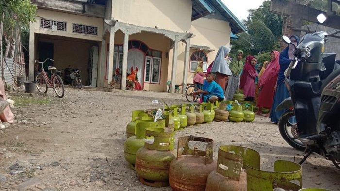 Langka, Ini Harga Elpiji Tabung Tiga Kilogram di Aceh Utara