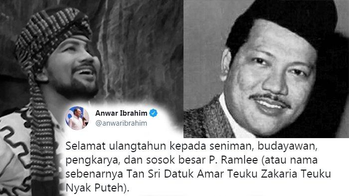 Selamat Ulang Tahun P Ramlee, Tulis Anwar Ibrahim di Twitter, Netizen Pun Bernostalgia