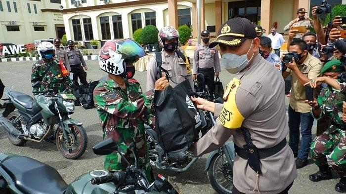 Polres Lhokseumawe Salurkan Sembako untuk Warga Terdampak Covid-19