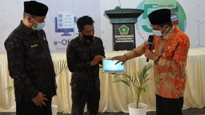 Kakanwil Launching Aplikasi E-Office Kemenag Banda Aceh