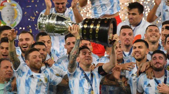 Argentina Juara Copa America 2021, Kalahkan Brasil di Final, Mimpi Buruk Lionel Messi Berakhir