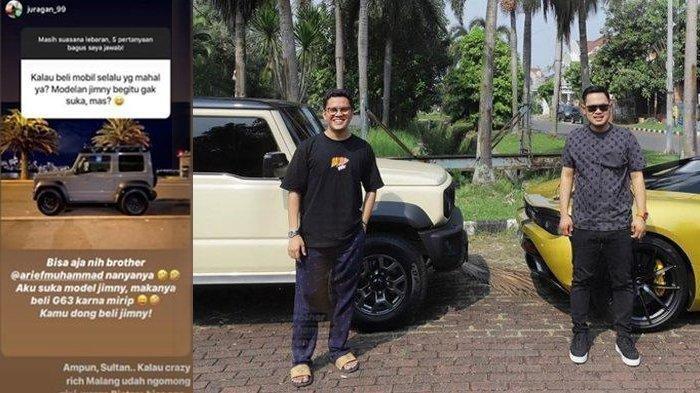 Ketiban Durian Runtuh, Arief Muhammad Dapat Mobil Rp 500 Juta dari Crazy Rich Malang Gegara IG Story