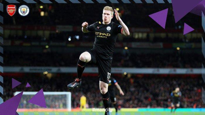 Hasil Liga Inggris - Man City Bikin Arsenal Babak Belur Babak Pertama, De Bruyne 2 Gol, Sterling 1