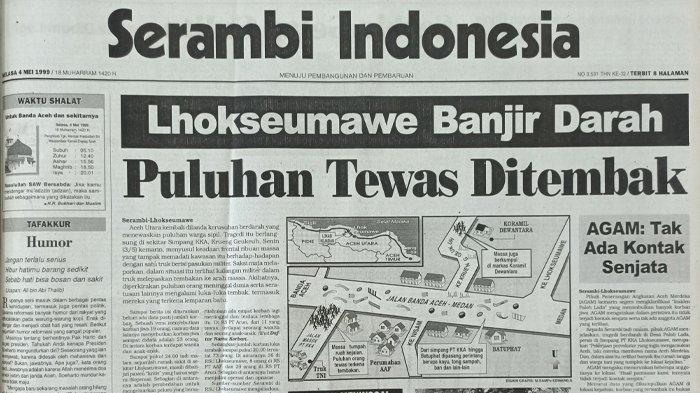 Hari Ini 21 Tahun Lalu, Tragedi Simpang KKA Aceh Utara yang Merenggut Puluhan Nyawa