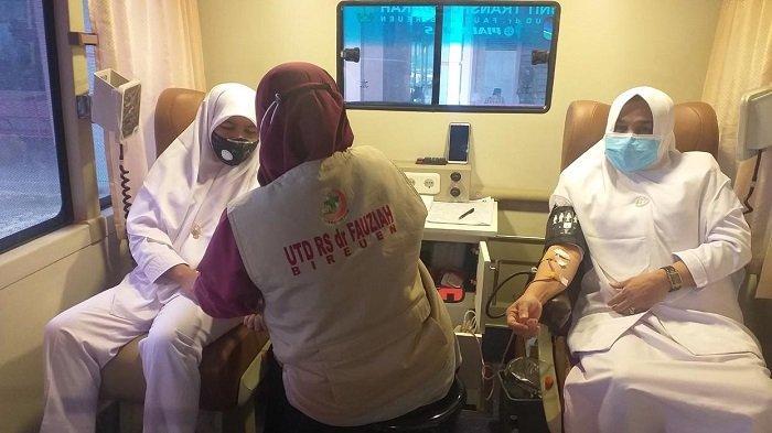 Peringati Hari Donor DarahSedunia, UTD Bireuen Kumpulkan Darah 42 Kantong