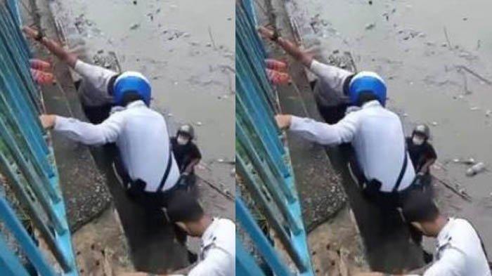 Asik Mancing Lalu Dihantam Air sampai Hampir Hanyut, Satu Keluarga Diselamatkan Dua Anggota Polisi